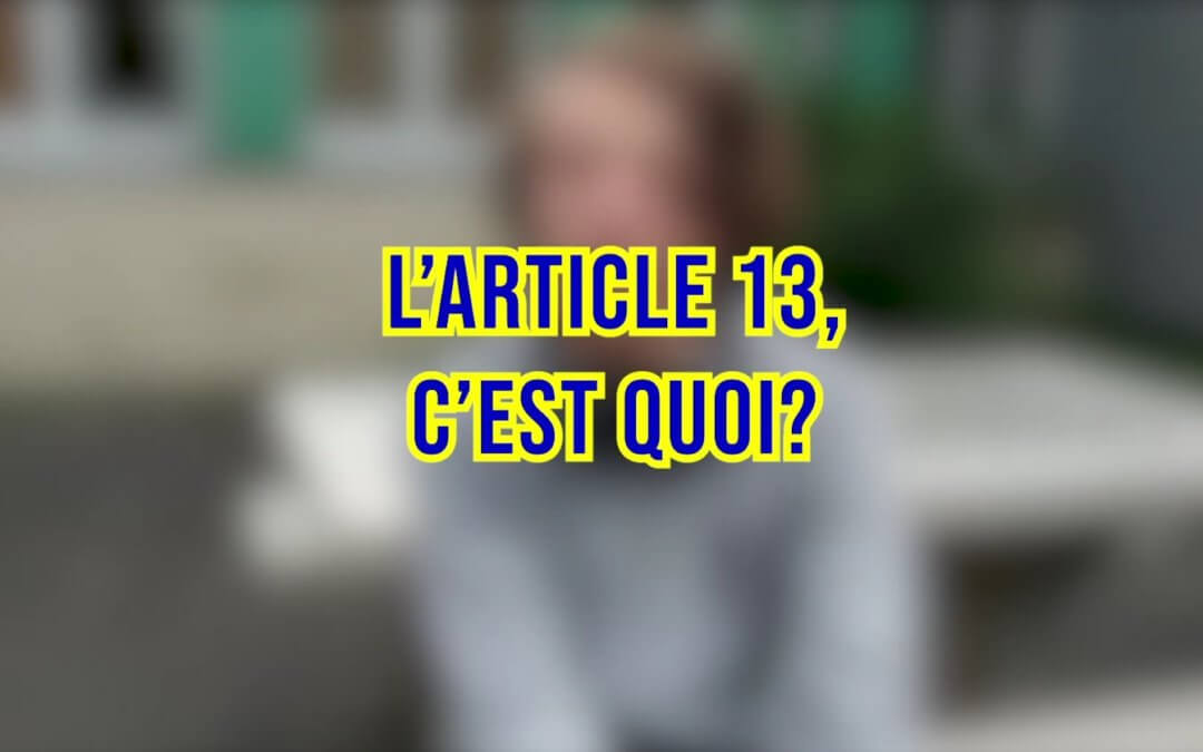 L' ARTICLE 13 [L'Europe du quotidien Épisode 2/4]