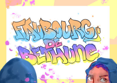 Dessin d'Amina d'un atelier graffiti au Faubourg de Bethune.